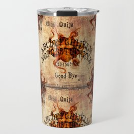 Here There Be Monsters Talking Board Travel Mug