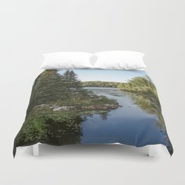 Algonquin Park | Landscape Photography | Lake | Swamp | Pine Trees | Lake Sky Reflection Duvet Cover