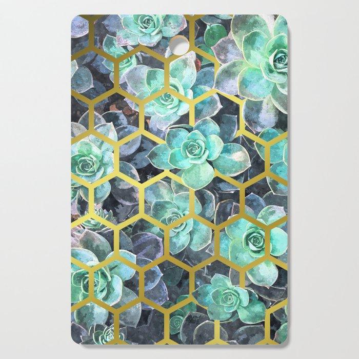 Succulent Geometric Modern Illustration Cutting Board