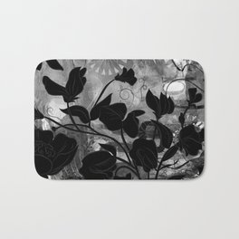 Queen Sweet Pea -- grayscale Bath Mat