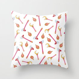 Magical Girl Weapons Throw Pillow