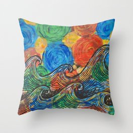Waves in my Dreams Throw Pillow