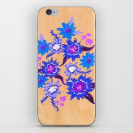Butter Blue Blooms iPhone Skin