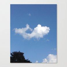 Whale Cloud Canvas Print
