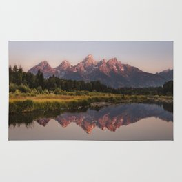 Morning in the Tetons Rug