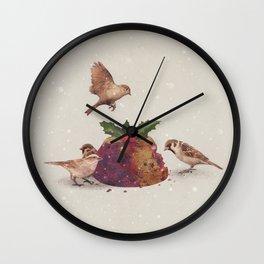 Christmas Pudding Raid  Wall Clock