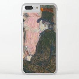 Henri de Toulouse-Lautrec, Maxime Dethomas, 1896 Clear iPhone Case