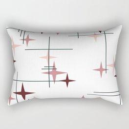 Mid Century Modern Stars (Pink) Rectangular Pillow