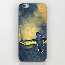 Golden Blue Hummingbird by CheyAnne Sexton iPhone Skin