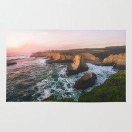 Golden California Coastline - Santa Cruz, California Rug
