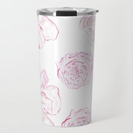 Abstract Flowers #society6 #buyart Travel Mug
