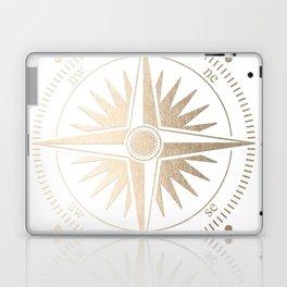 Gold on White Compass Laptop & iPad Skin