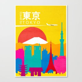 Travel to Tokyo Canvas Print