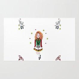 Irish Dancing Girl Rug