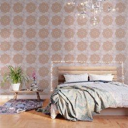 Rose gold mandala - pink marble Wallpaper