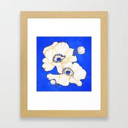 Ultramarine Blue :: Anemones Framed Art Print