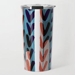 Painted Chevrons - Sarah Bagshaw Travel Mug