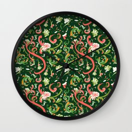 Swirly Trendy_Green Wall Clock
