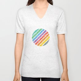 Triangles in a Circle Abstract Unisex V-Neck