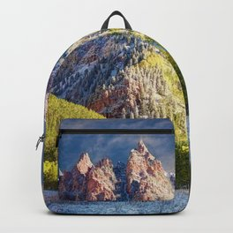 First Snow Maroon Bells Backpack