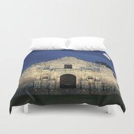 Night at the Alamo  Duvet Cover
