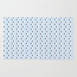 Minimal Squares - Steel Blue Rug