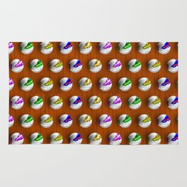 Marbles on Wood Pattern Rug
