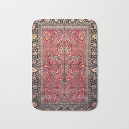 Antique Persian Red Rug Bath Mat