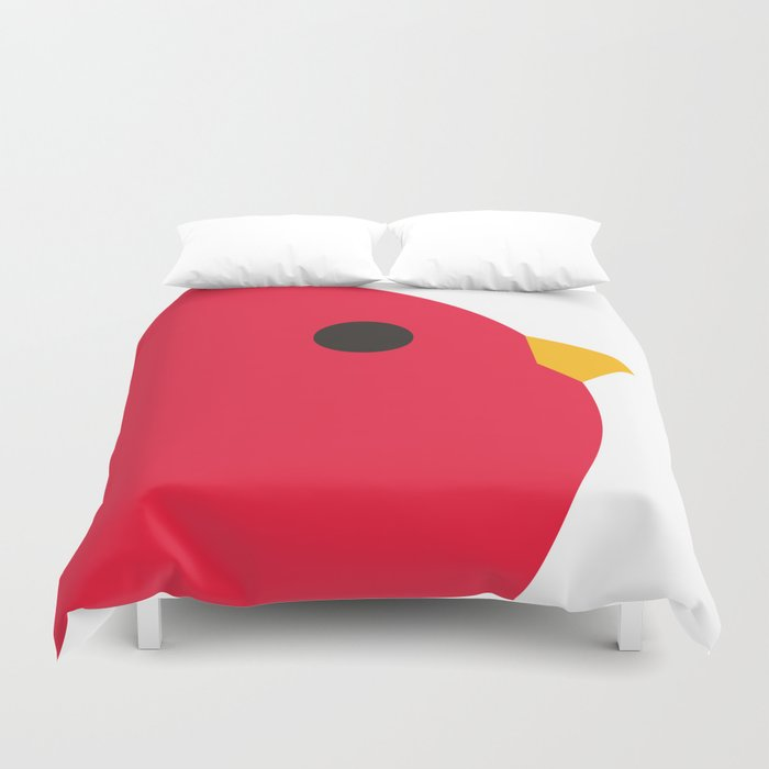 Red Fred Duvet Cover
