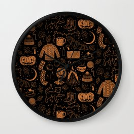 Autumn Nights: Halloween Wall Clock