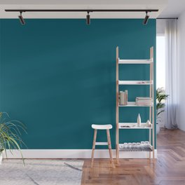 Sherwin Williams Trending Colors of 2019 Oceanside (Dark Aqua Blue) SW 6496 Solid Color Wall Mural