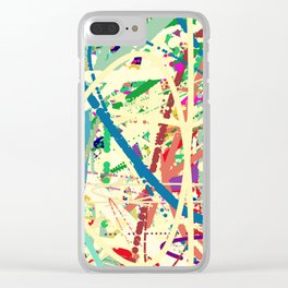 An Homage to Pollock Clear iPhone Case
