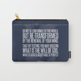 Romans 12:2 Carry-All Pouch