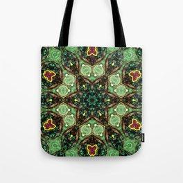 Green Star Flower Tote Bag