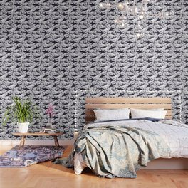 Sharks On Pale Grey Wallpaper