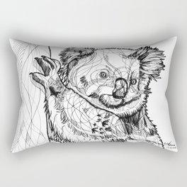 Abstract koala line drawing / black and white Rectangular Pillow