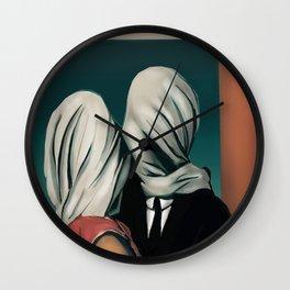 Hidden Faces Wall Clock