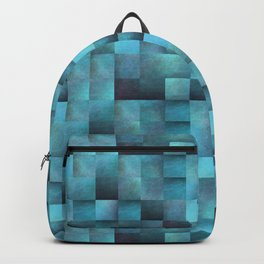 Tiled Pattern Shades Of Blue Backpack