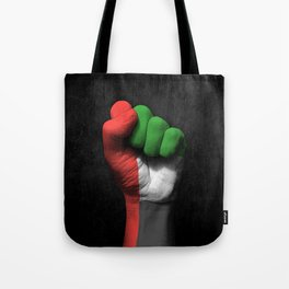 UAE Flag on a Raised Clenched Fist Tote Bag