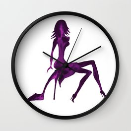 DIVA ON shoe - PAINTED - Gorgeous VIOLET Wall Clock