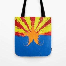 Arizona Flag Fluid Art Style 2 Tote Bag