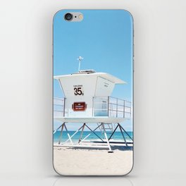 Lifeguard tower Carlsbad 35 iPhone Skin