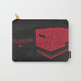 Metal Gear Solid Typography Carry-All Pouch