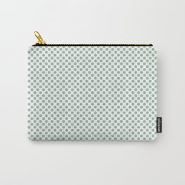 Grayed Jade Polka Dots Carry-All Pouch