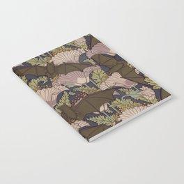 Vintage Art Deco Bat and Flowers Notebook