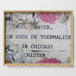 Urban poetry Serving Tray