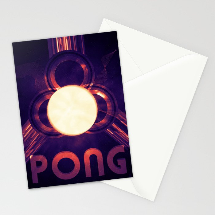 PONG #3 Stationery Cards