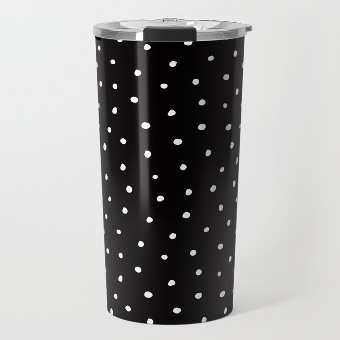 Minimal Small White Polka Dots On Black Mix Match With