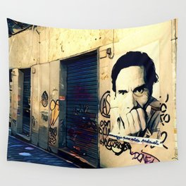 Street Art Pasolini in Rome Wall Tapestry
