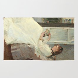 The Artist's Sister at a Window by Berthe Morisot Rug